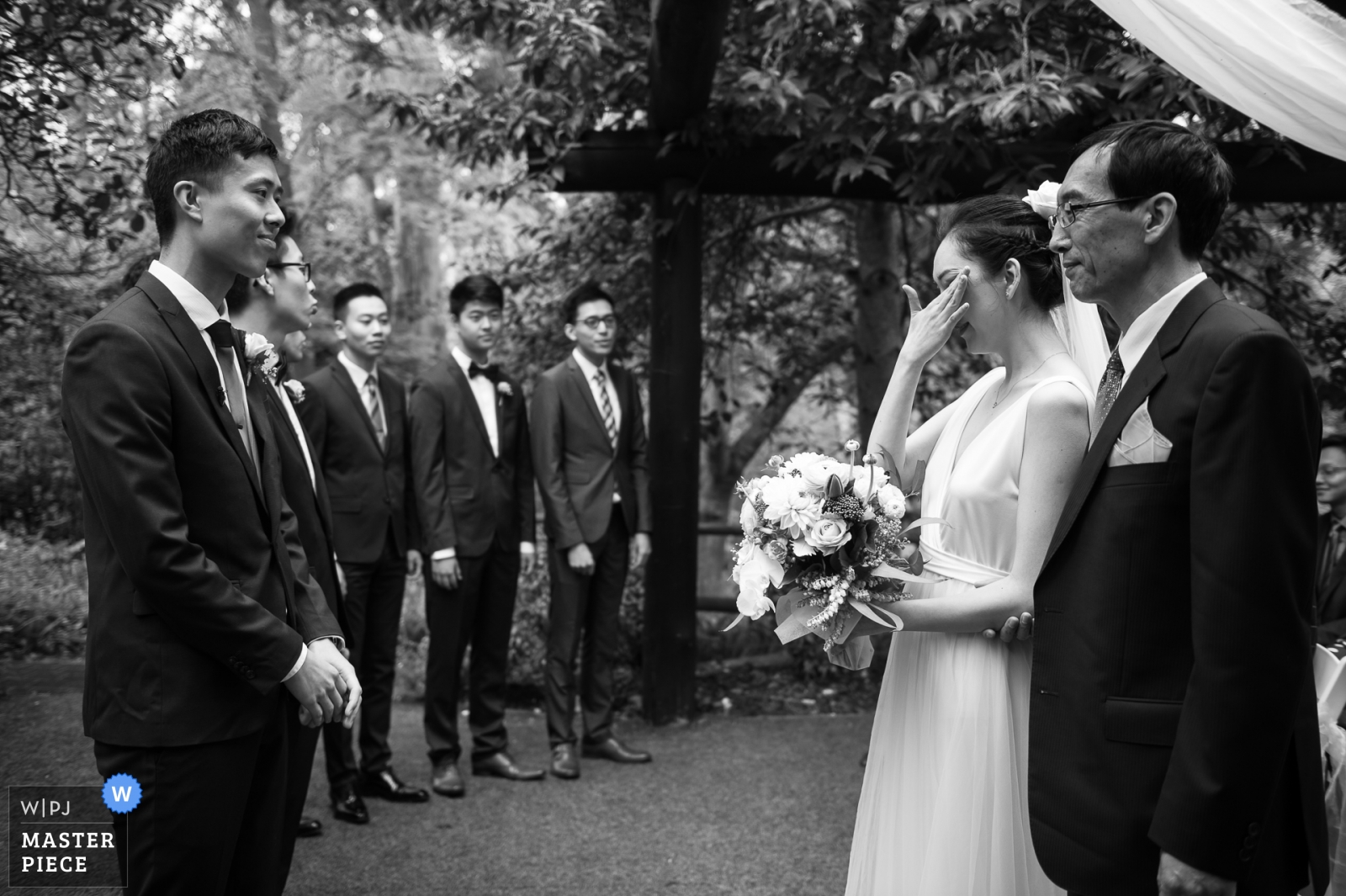The bride father gave the daughter to the groom - Melbourne, Victoria, Australia Wedding Photography -  | Victoria-AU