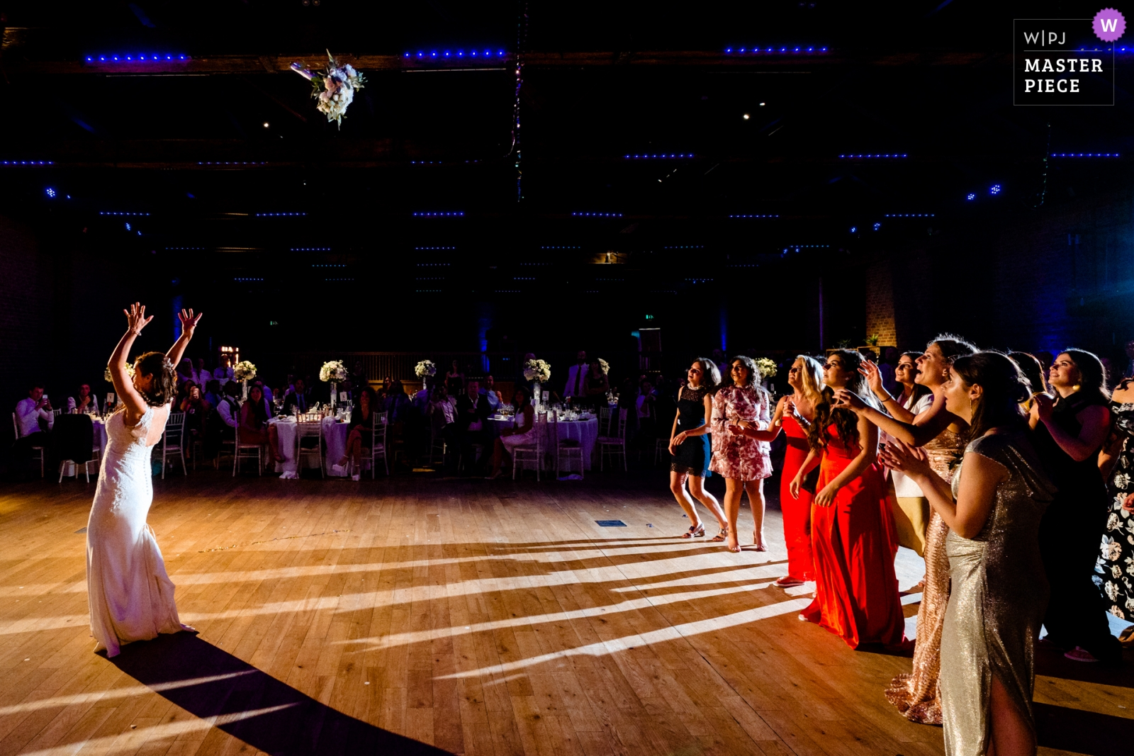 The Bride tosses her bouquet - Hertfordshire, England Wedding Photography -  | The Brewery, London, UK