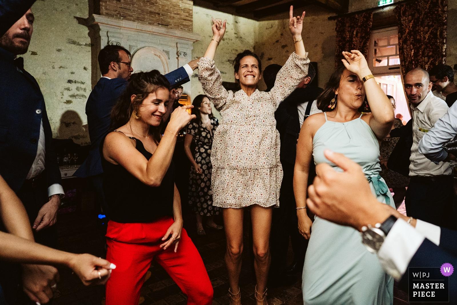 reception dancefloor - Greater Manchester, England Wedding Photography -    Manoir de Kerougas, Assérac