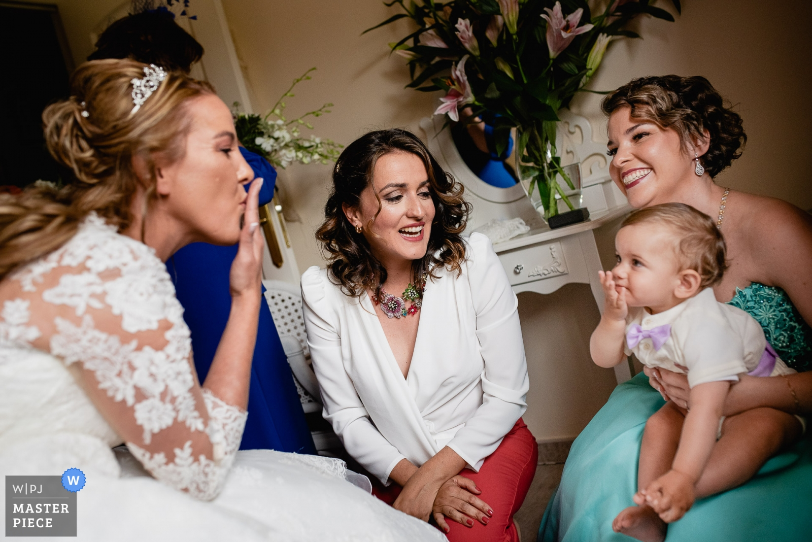 Bride and her family during getting ready - Madrid, Spain Wedding Photography -  | Home