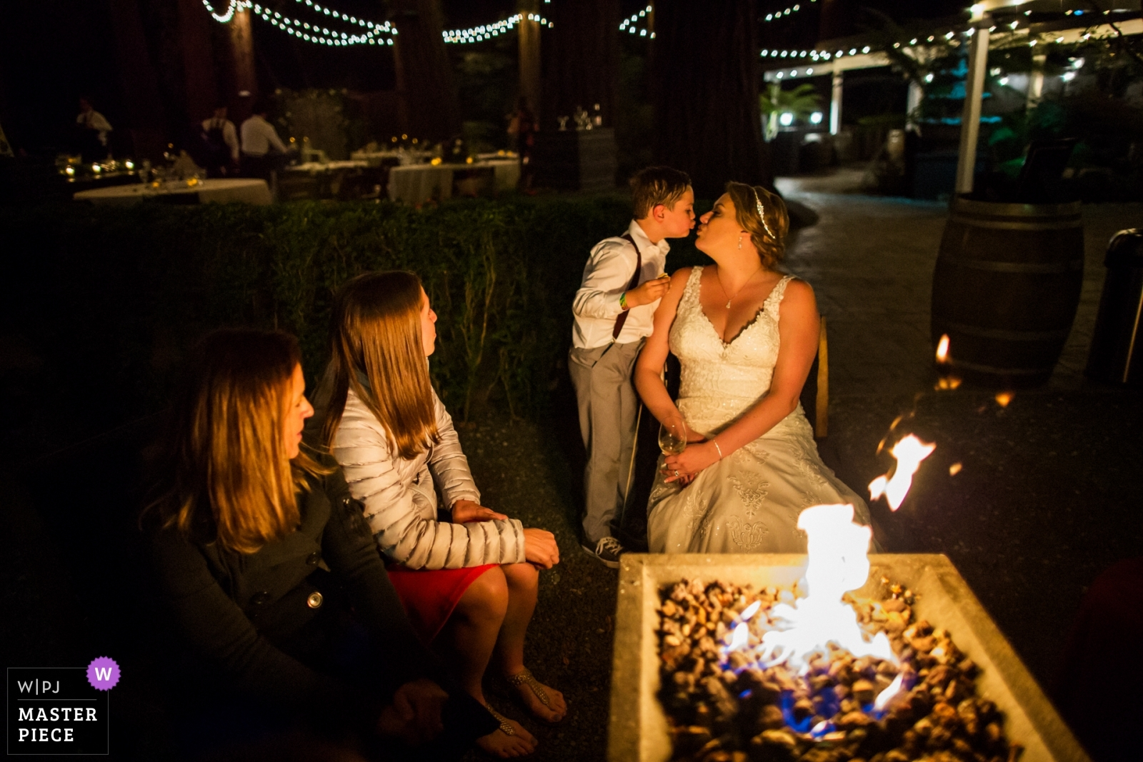 A sweet kiss for the bride - San Francisco, California - Northern Wedding Photography -  | Deer Park Villa, Fairfax