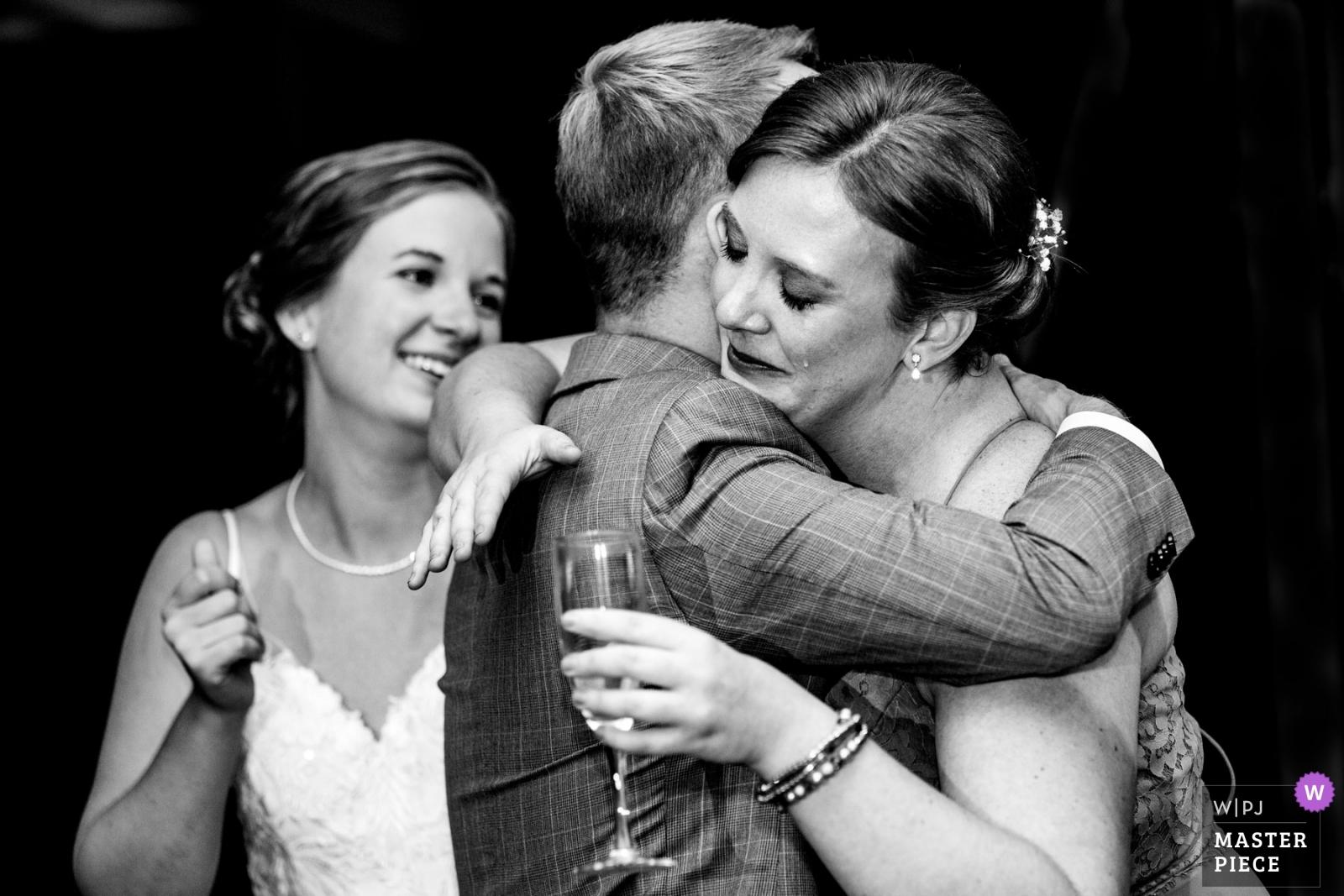 Grooms sister after a toast. Caught the tear.  - Philadelphia, Pennsylvania Wedding Photography -  | Duportail House Wayne PA