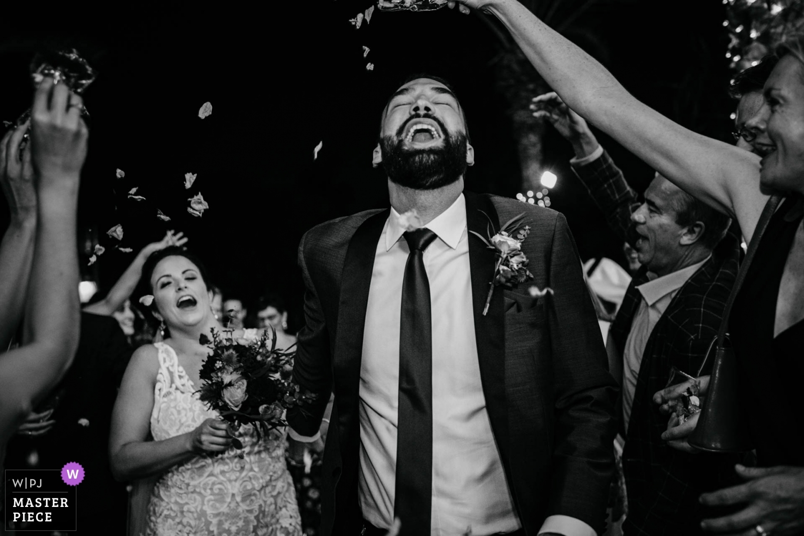 Confetti Entrance - Dubai UAE, United Arab Emirates Wedding Photography -  | Magnolia, Al Qasr Hotel Dubai