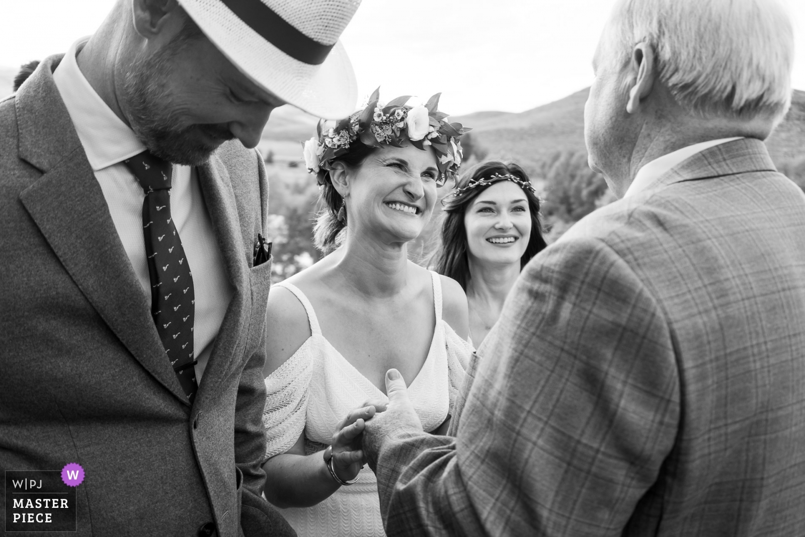 Bride greeting father during ceremony - Denver, Colorado Wedding Photography -  | Grandby, CO