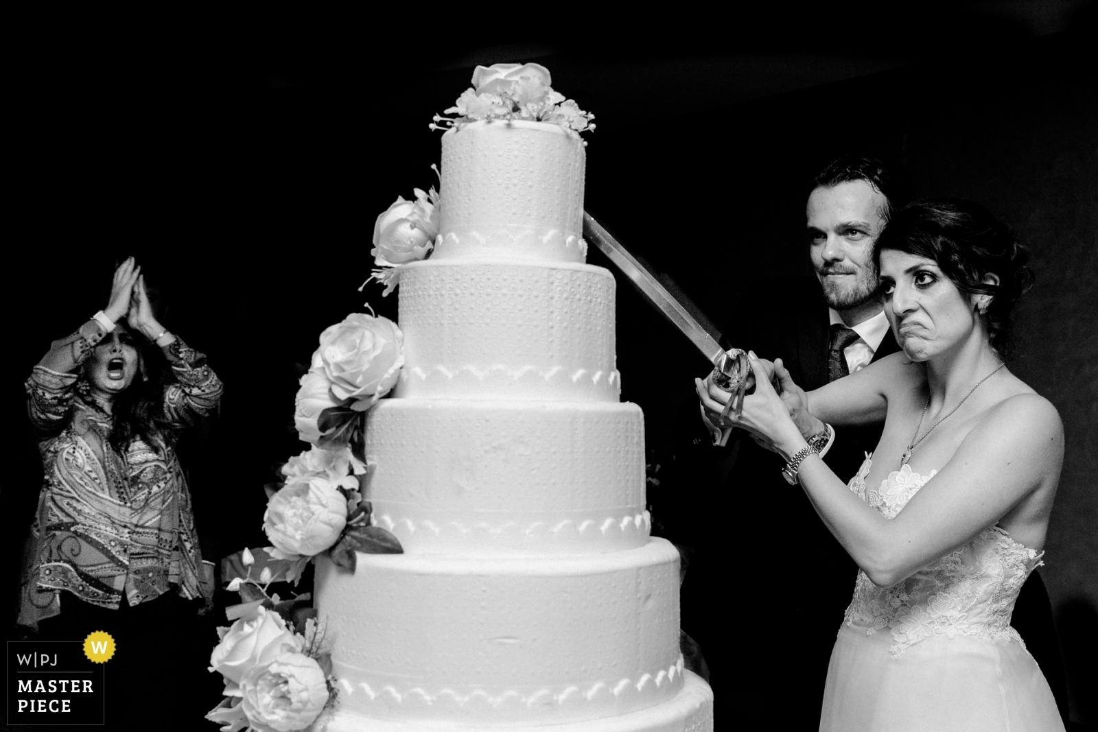 Cut The Cake - Istanbul, Turkey Wedding Photography -    Akra Barut Hotel
