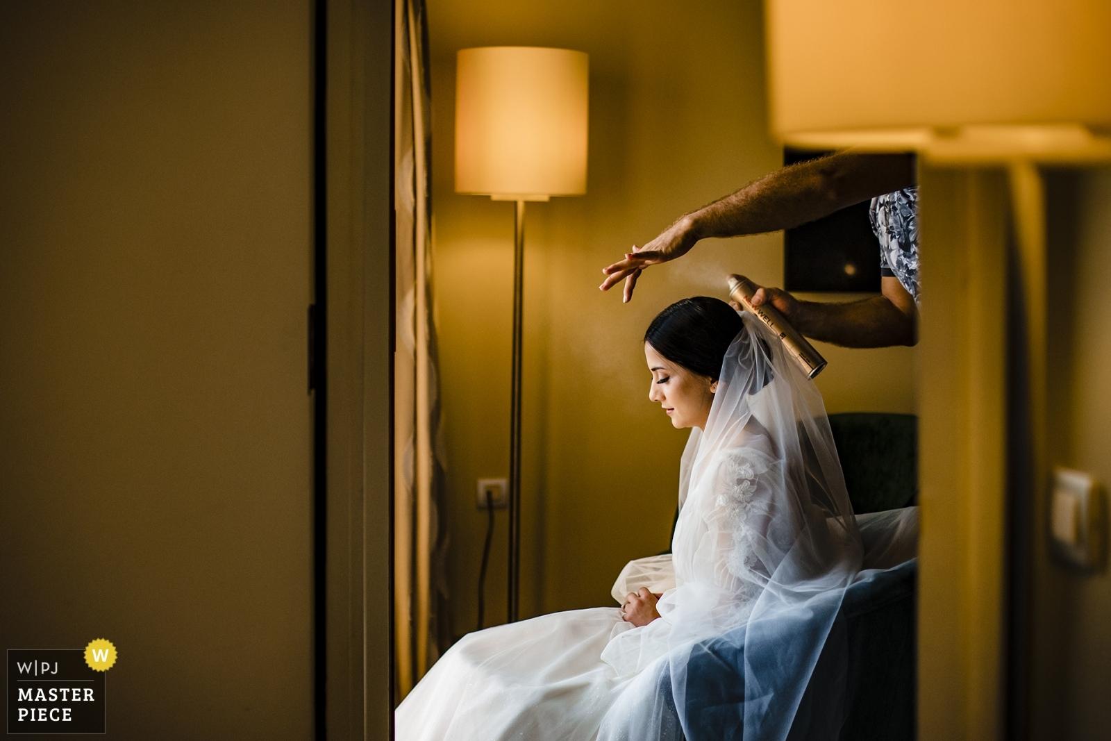 Bride getting ready - Istanbul, Turkey Wedding Photography -  | Mersin Hilton Hotel