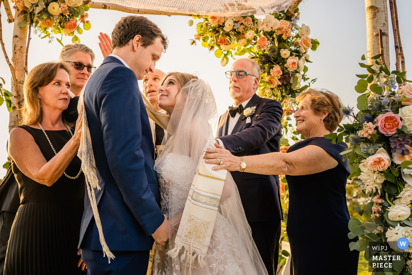 Couple's family blesses them during their ceremony - San Diego, California - Southern Wedding Photography -  | Del Mar, Ca