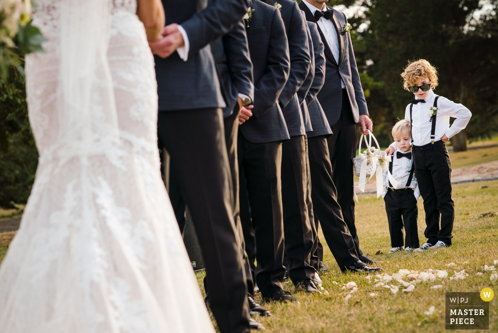 Ring Bearer being the coolest cat present during the ceremony - New Jersey, United States Wedding Photography -  | Ceremony Location