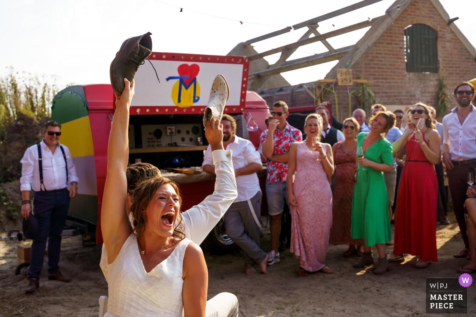 the shoe game - Overijssel, Netherlands Wedding Photography -    Voorthuizen - Netherlands
