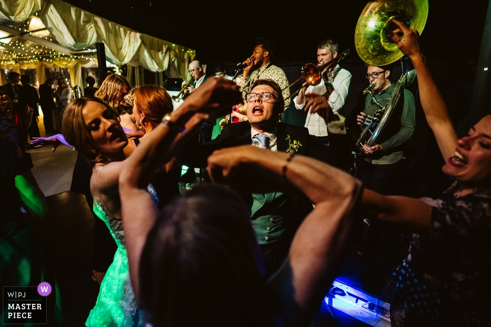Dancefloor action - Greater Manchester, England Wedding Photography -  | Family home, Reception, Chester, UK