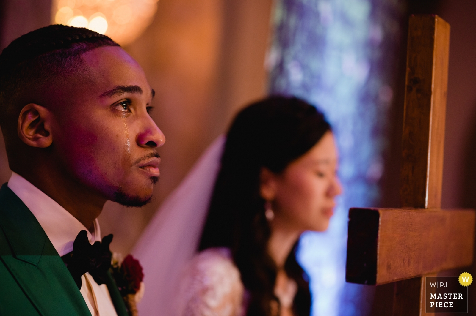 The couple got really emotional during the religious ceremony. - Washington DC, United States Wedding Photography -  | Martin's West, Baltimore, MD