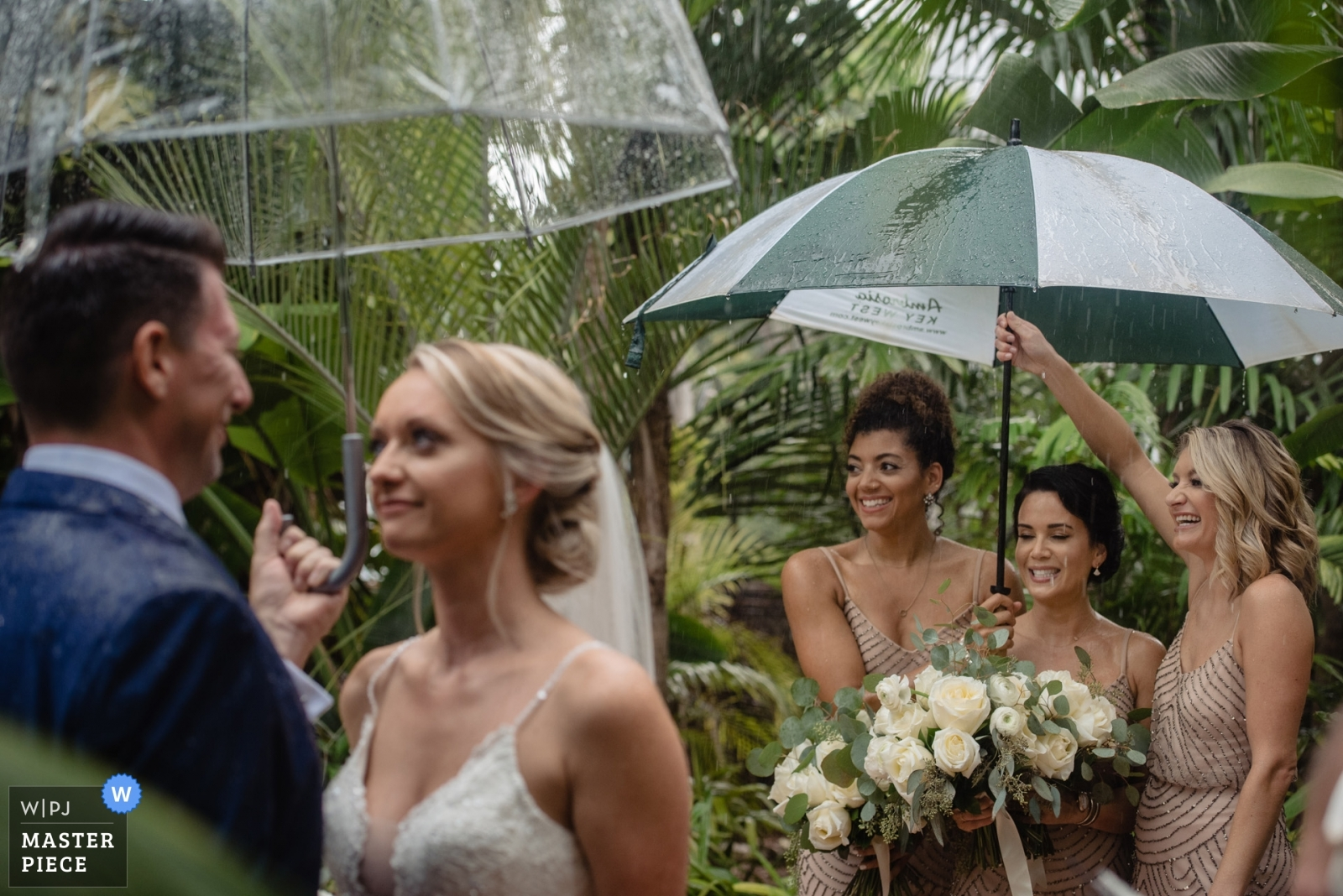 Rainy Ceremony - Key West, Florida Wedding Photography -  | Hemingway House Key West