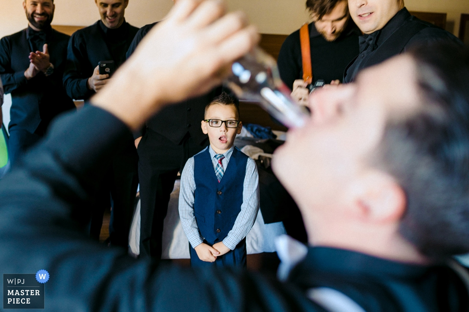 Boy looking at some weird adults wedding traditions - Boston, Massachusetts Wedding Photography -  | wychmere beach club, Cape Cod, MA