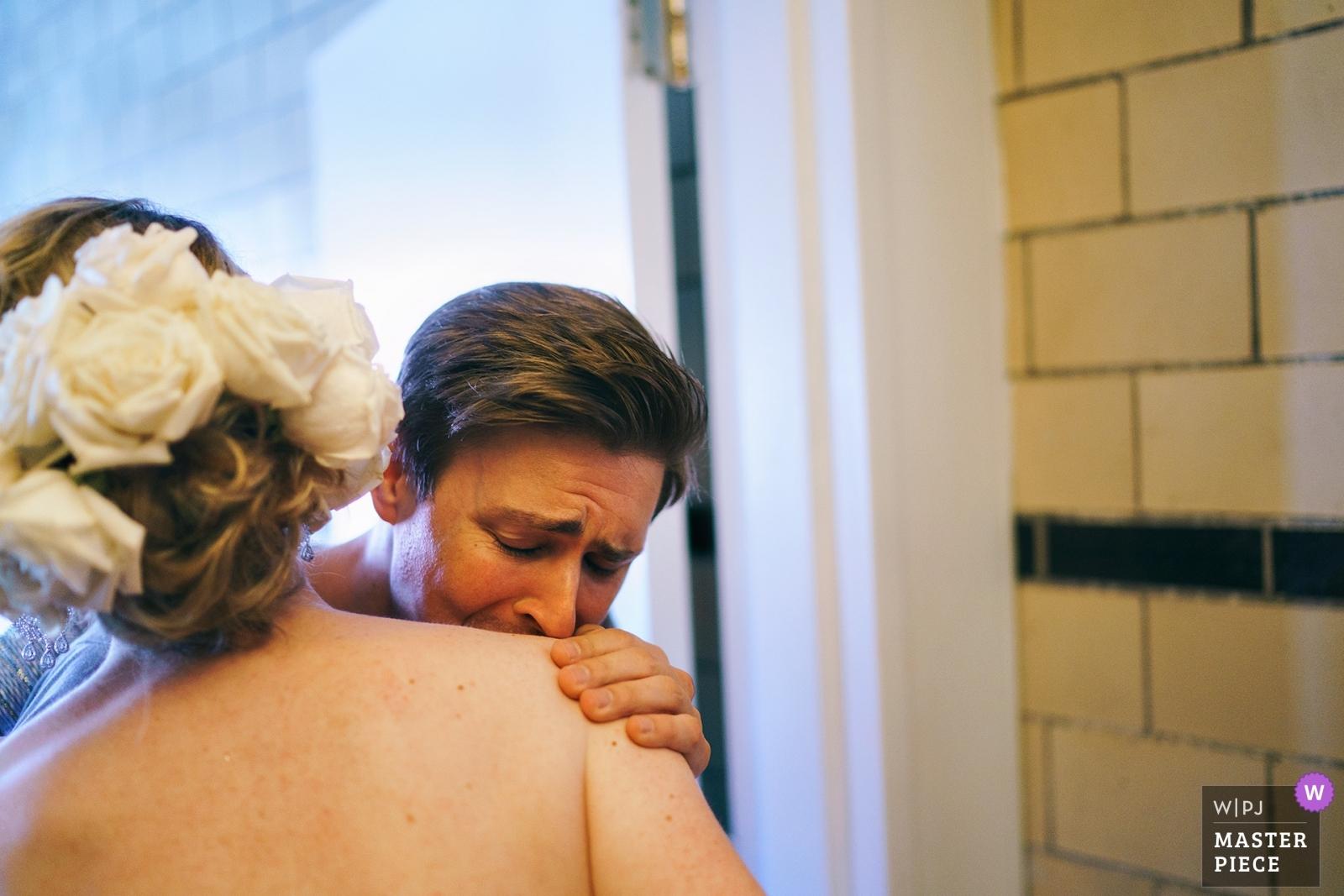 bride getting ready - Bronx, New York City - Metro Wedding Photography -  | Flushing Town Hall