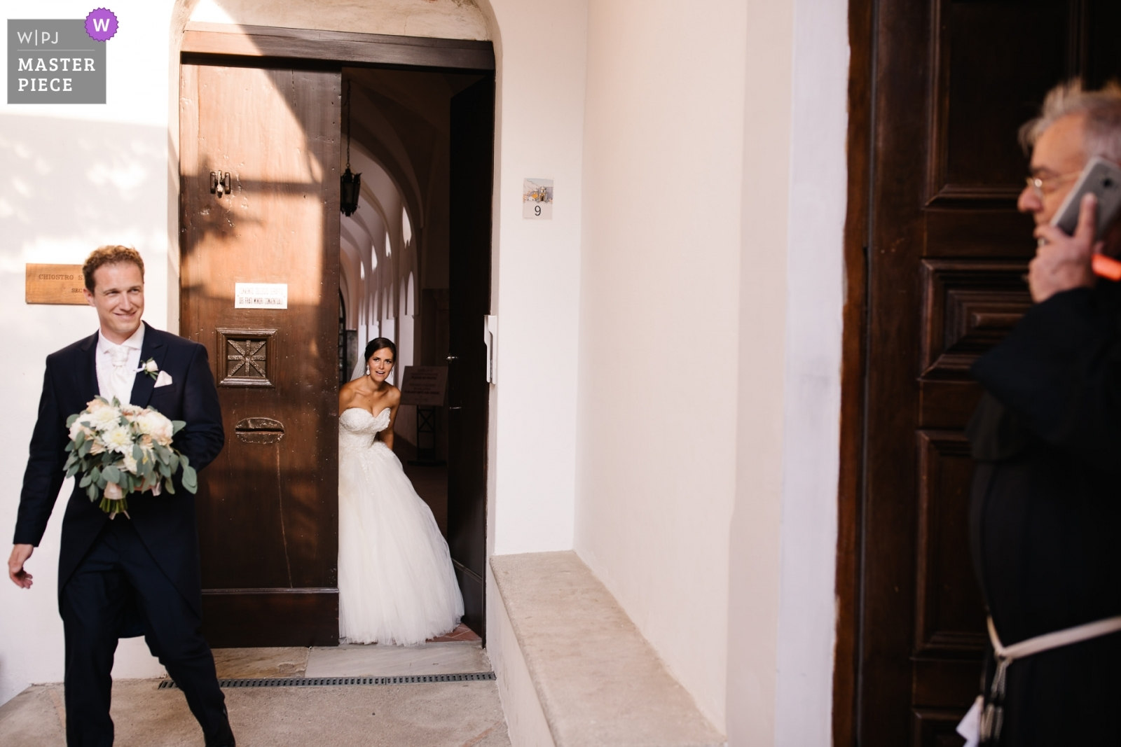 Bride and Groom during walk after ceremony - Portofino, Genoa Wedding Photography -  | Ravello, Italy