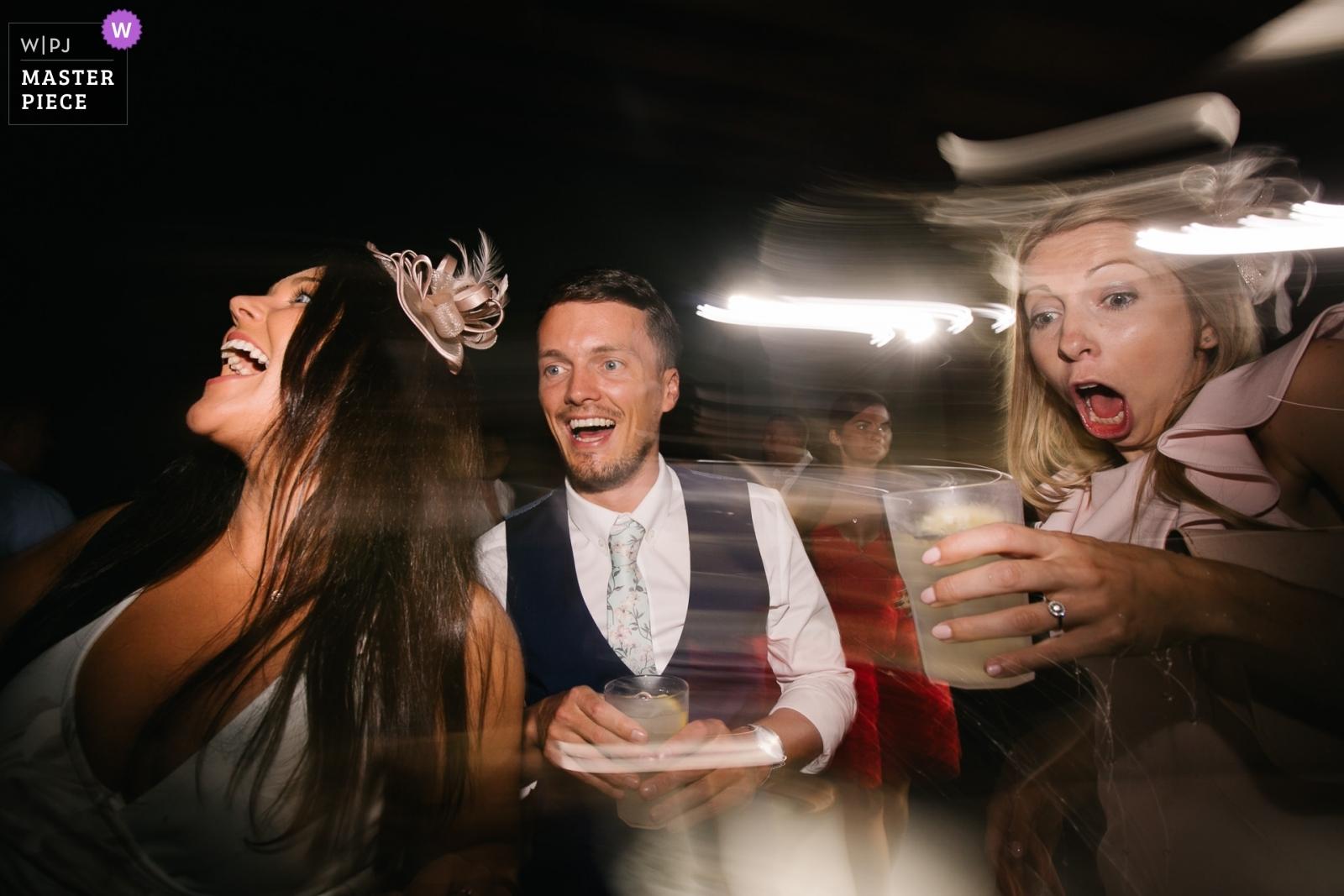 weddings guests dancing - Portofino, Genoa Wedding Photography -  | Castello del Trebbio, Tuscany