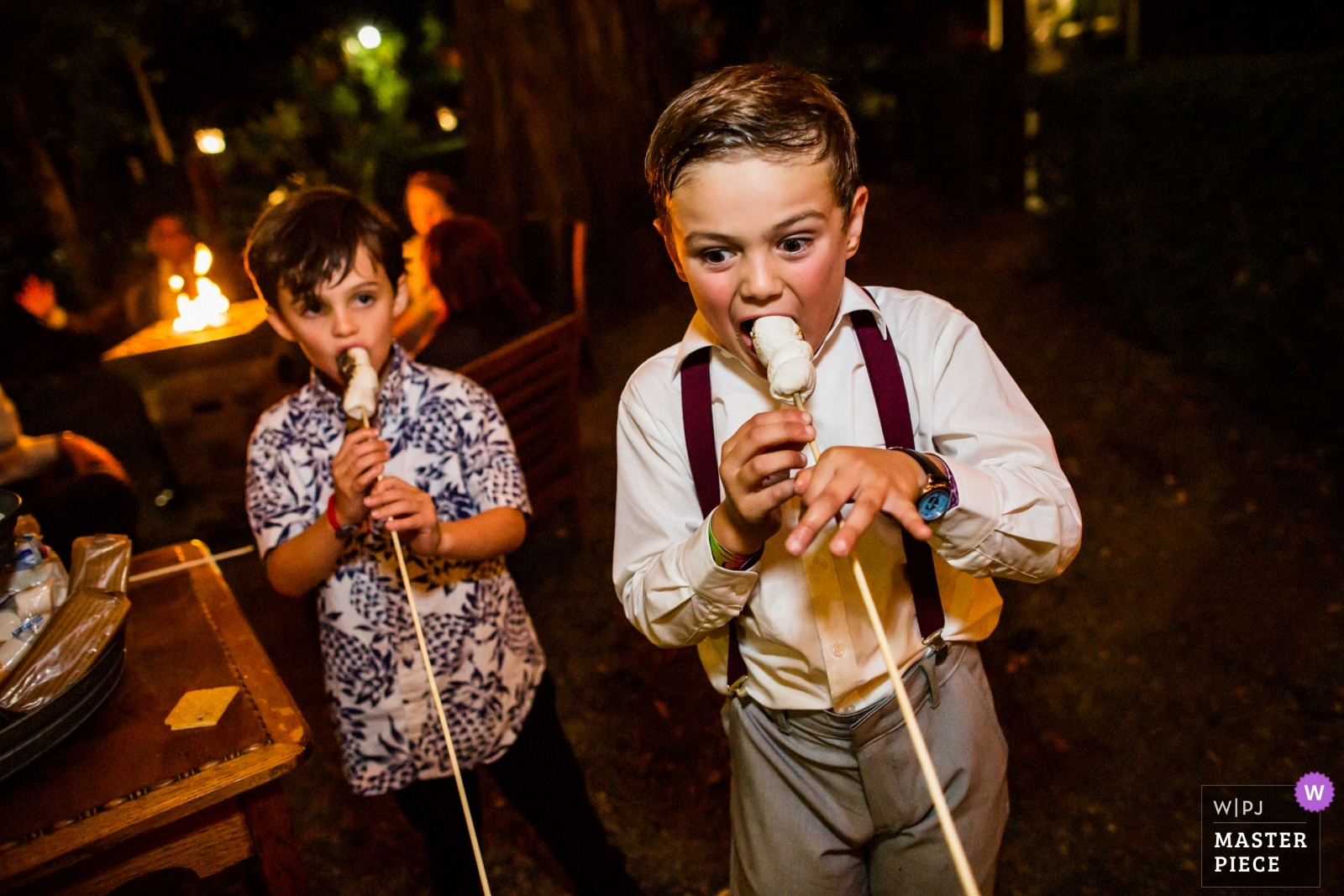 Hot, hot yummy s'mores - San Francisco, California - Northern Wedding Photography -  | Deer Park Villa, Fairfax