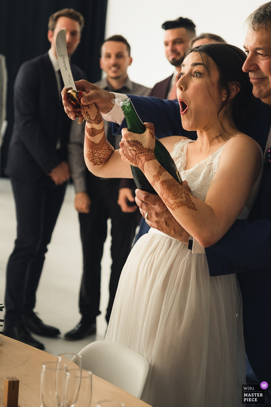 She managed to open the champagne with a knife (Part II) - Montreal, Quebec Wedding Photography -  | L'Eloi in Montreal Canada