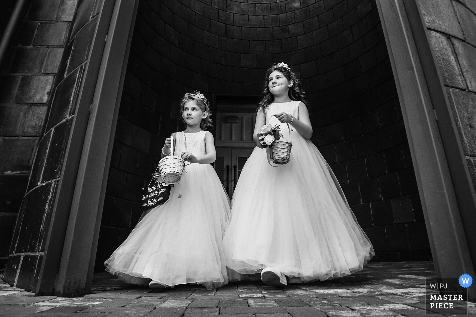 Flower girls make their way to the ceremony at start of ceremony - New Jersey, United States Wedding Photography -  | Ceremony/Reception Venue