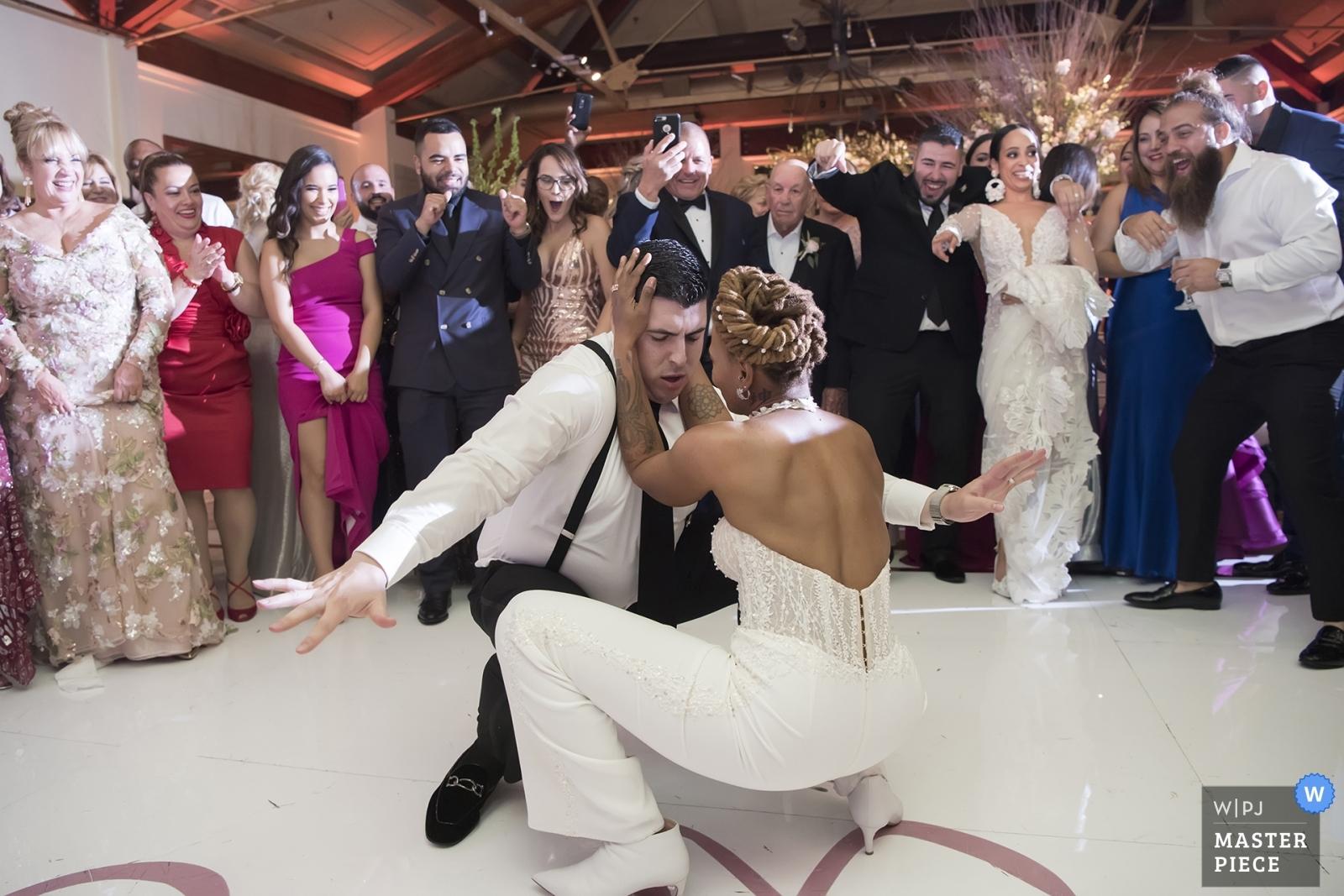 people dancing at wedding reception - Hoboken, New Jersey Wedding Photography -  | Liberty House