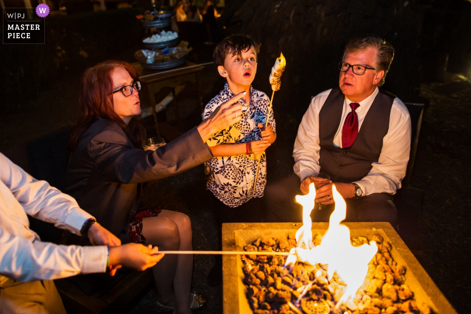 Grandma, the marshmallow is on fire! - San Francisco, California - Northern Wedding Photography -  | Deer Park Villa, Fairfax