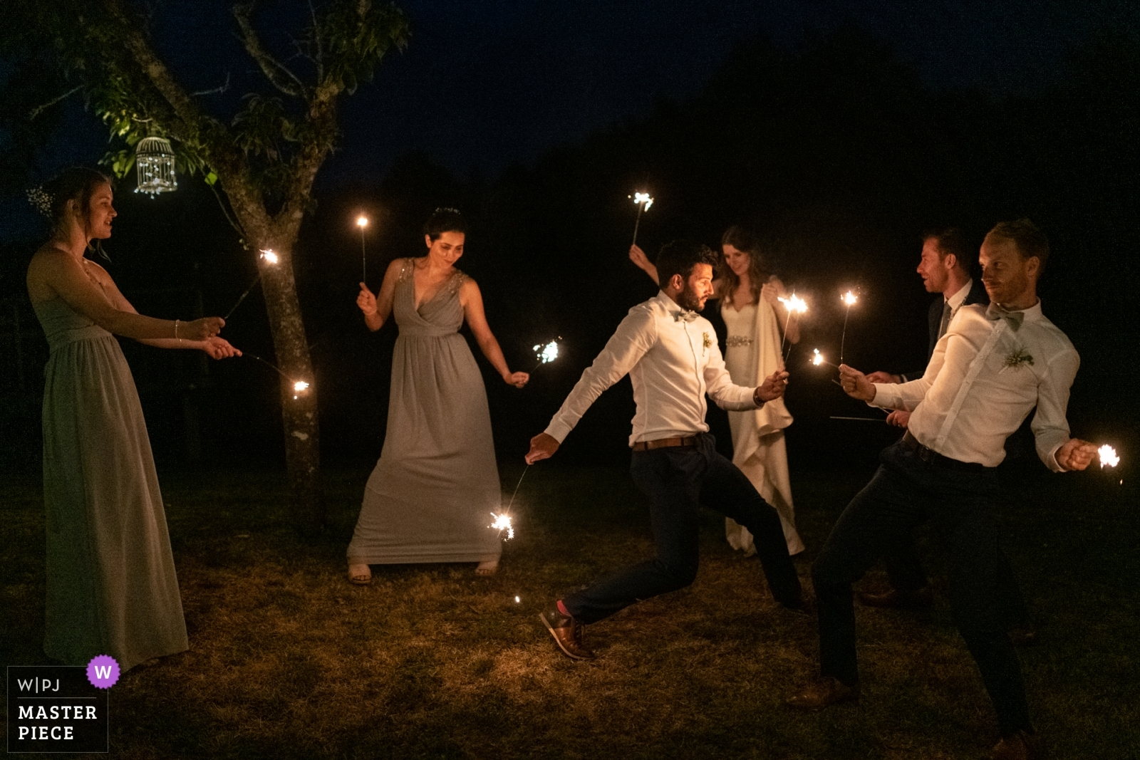 Playing with sparkles is so funny! - Nouvelle-Aquitaine, France Wedding Photography -  | Domaine de Grolhier