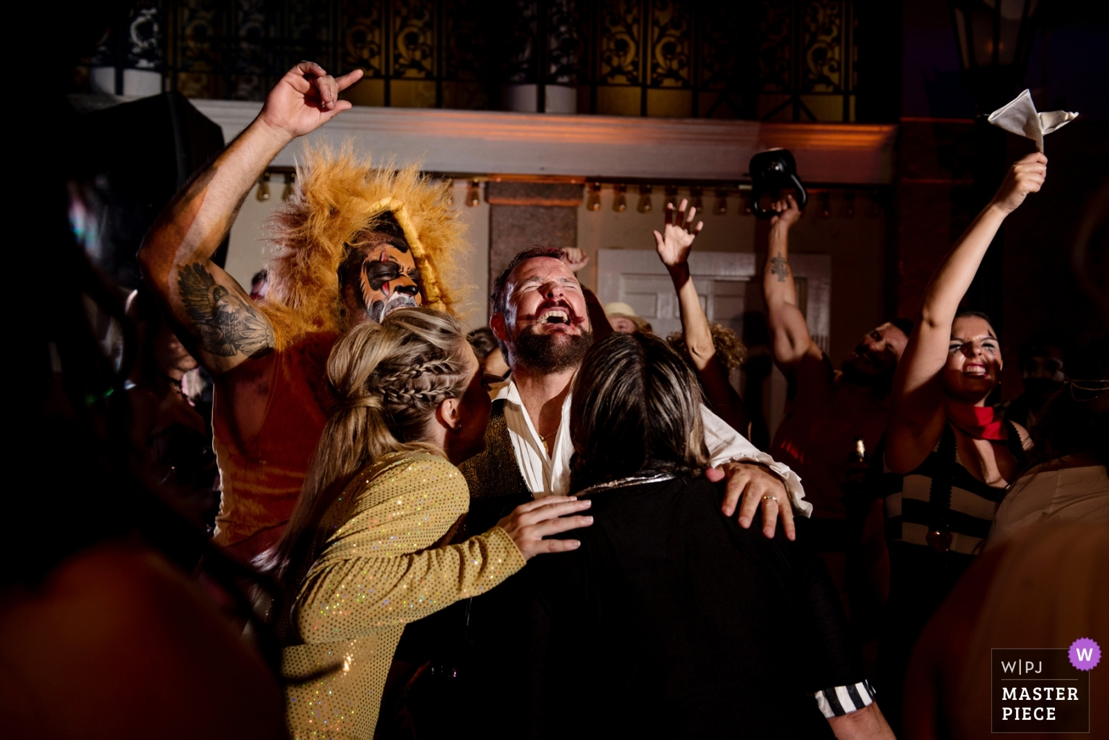 Fun on the dance floor with costume reception... - Key West, Florida Wedding Photography -  | Costume reception...The Lightner, St Augustine