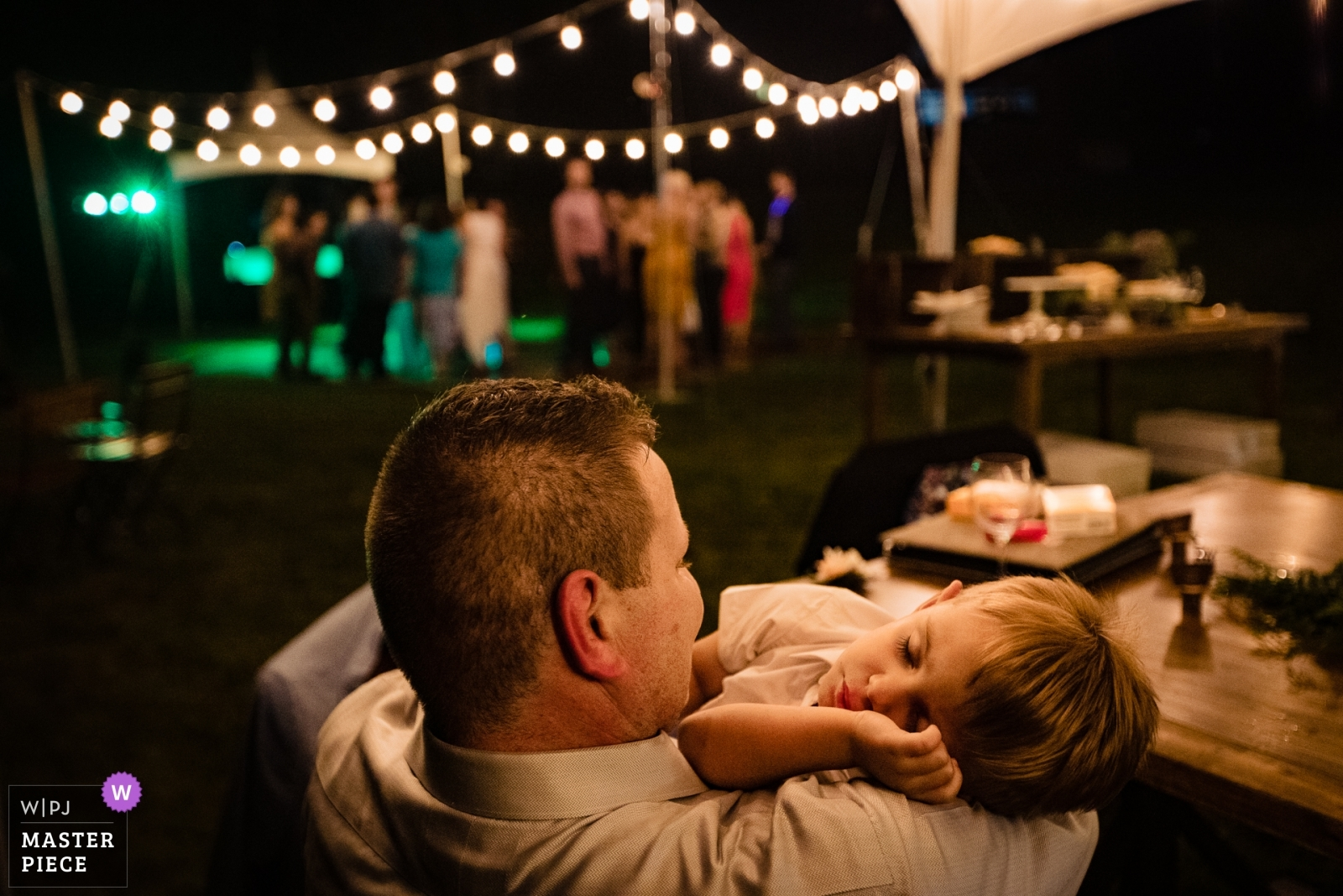 asleep kid during reception - Missoula, Montana Wedding Photography -  | Stryker, Montana
