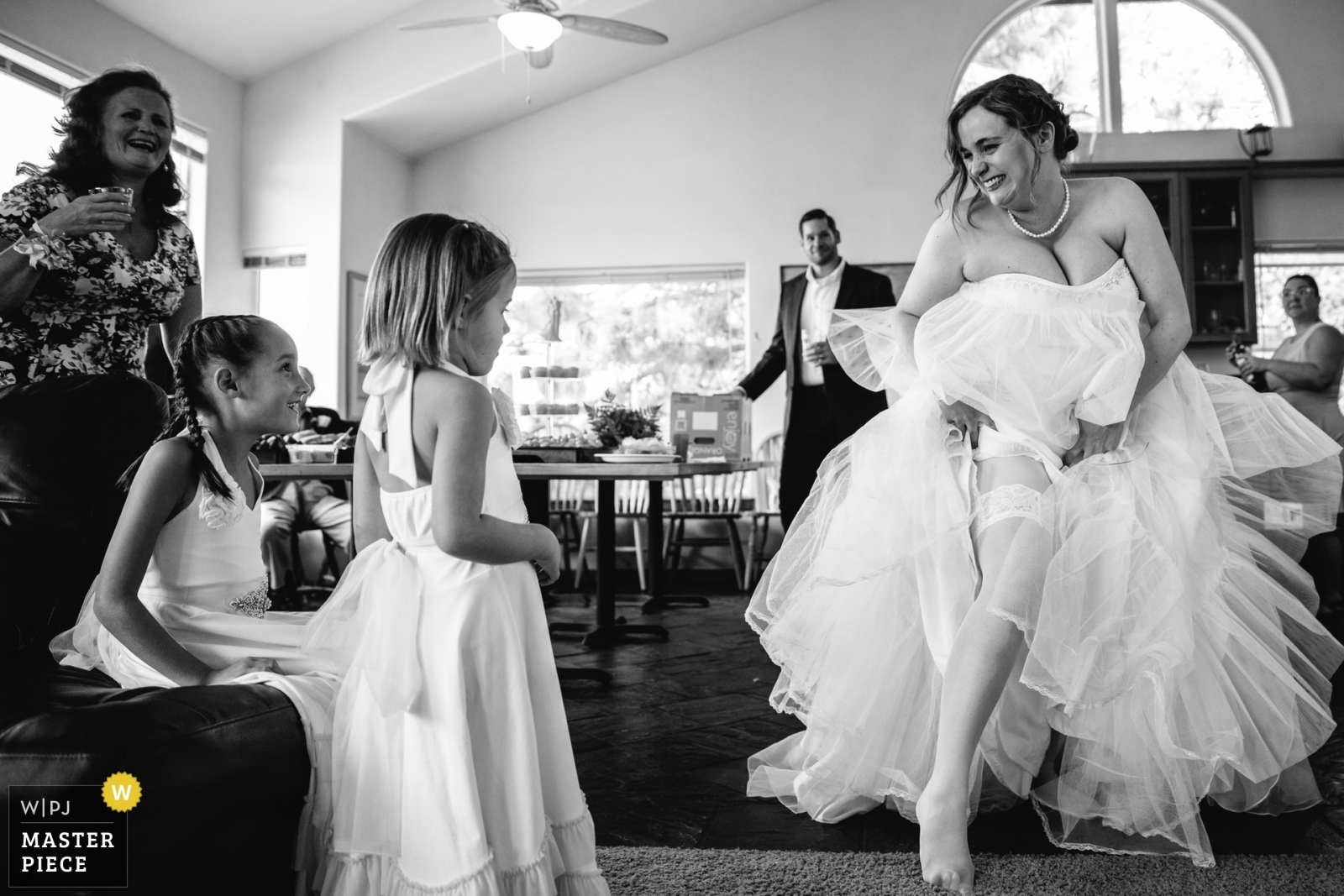 Trying to explain to children what stockings are... - Lake Tahoe, California - Northern Wedding Photography -    South Lake Tahoe, Private Home