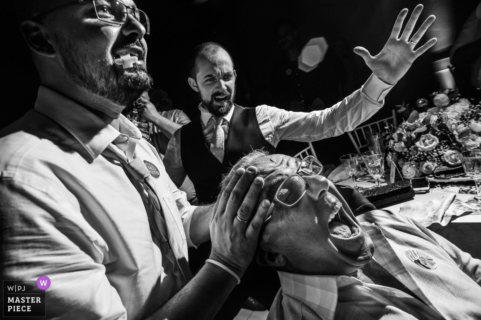 Groom giving drink  - São Paulo, Brazil Wedding Photography -  | Paulinia