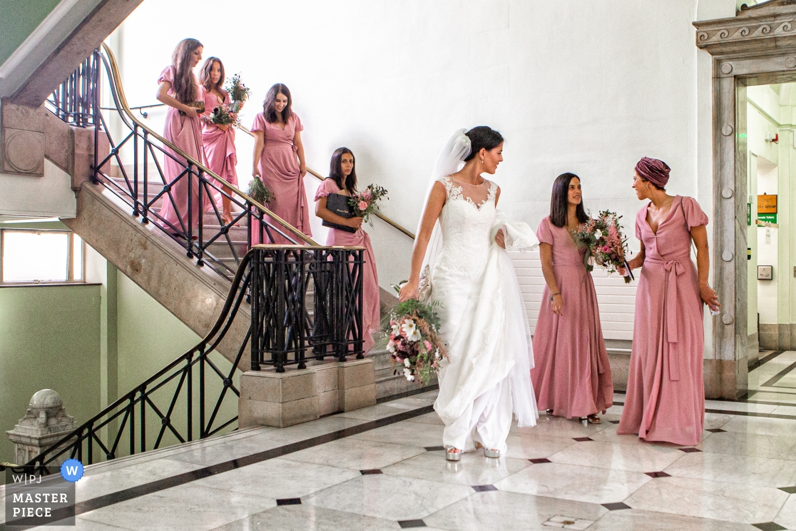 Bride and Bridesmaids  - London, England Wedding Photography -  | Islington Town Hall, London