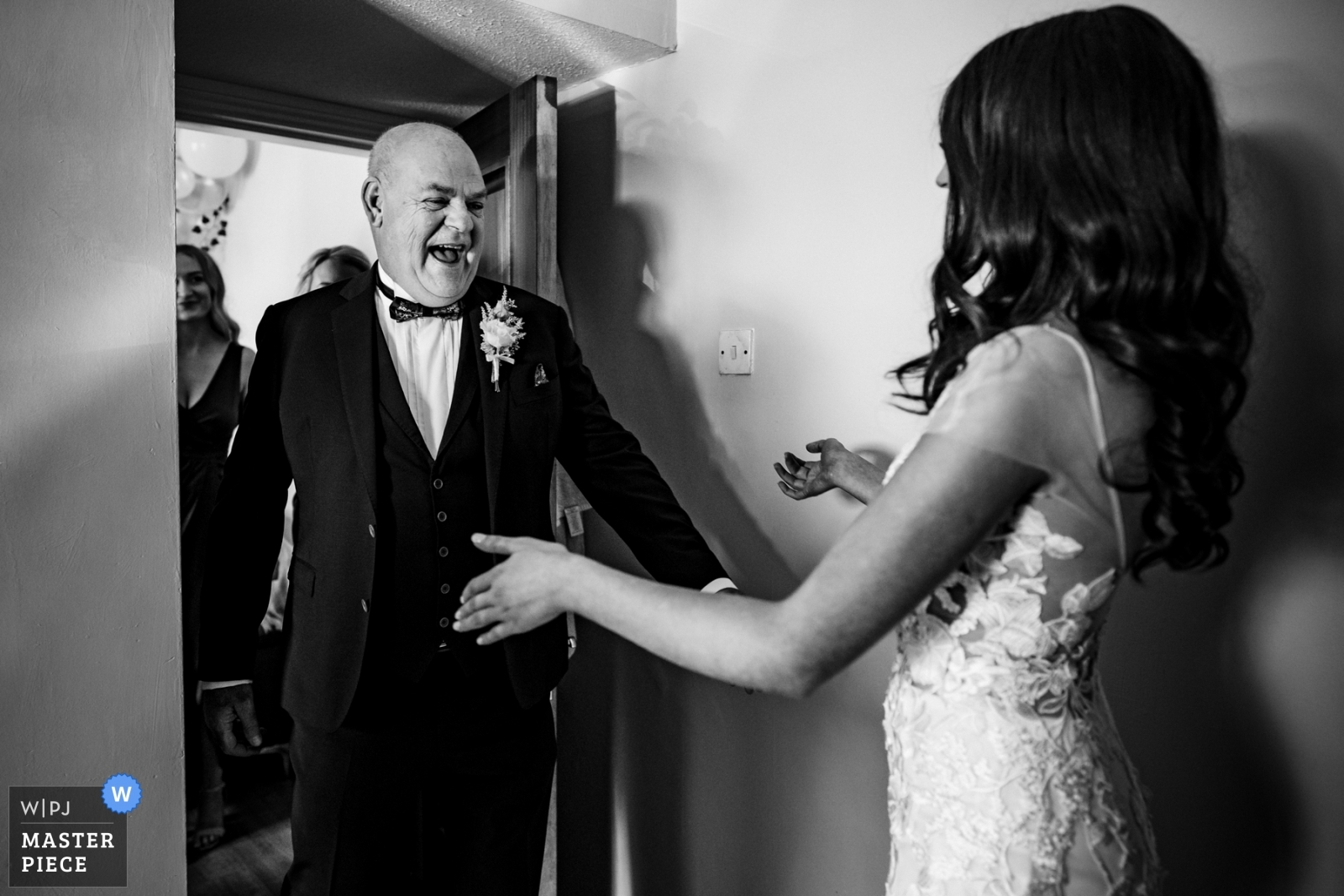 Godfather sees bride for the first time when he arrives to walk her down the aisle - Dublin, Leinster Wedding Photography -  | Kildare, Ireland