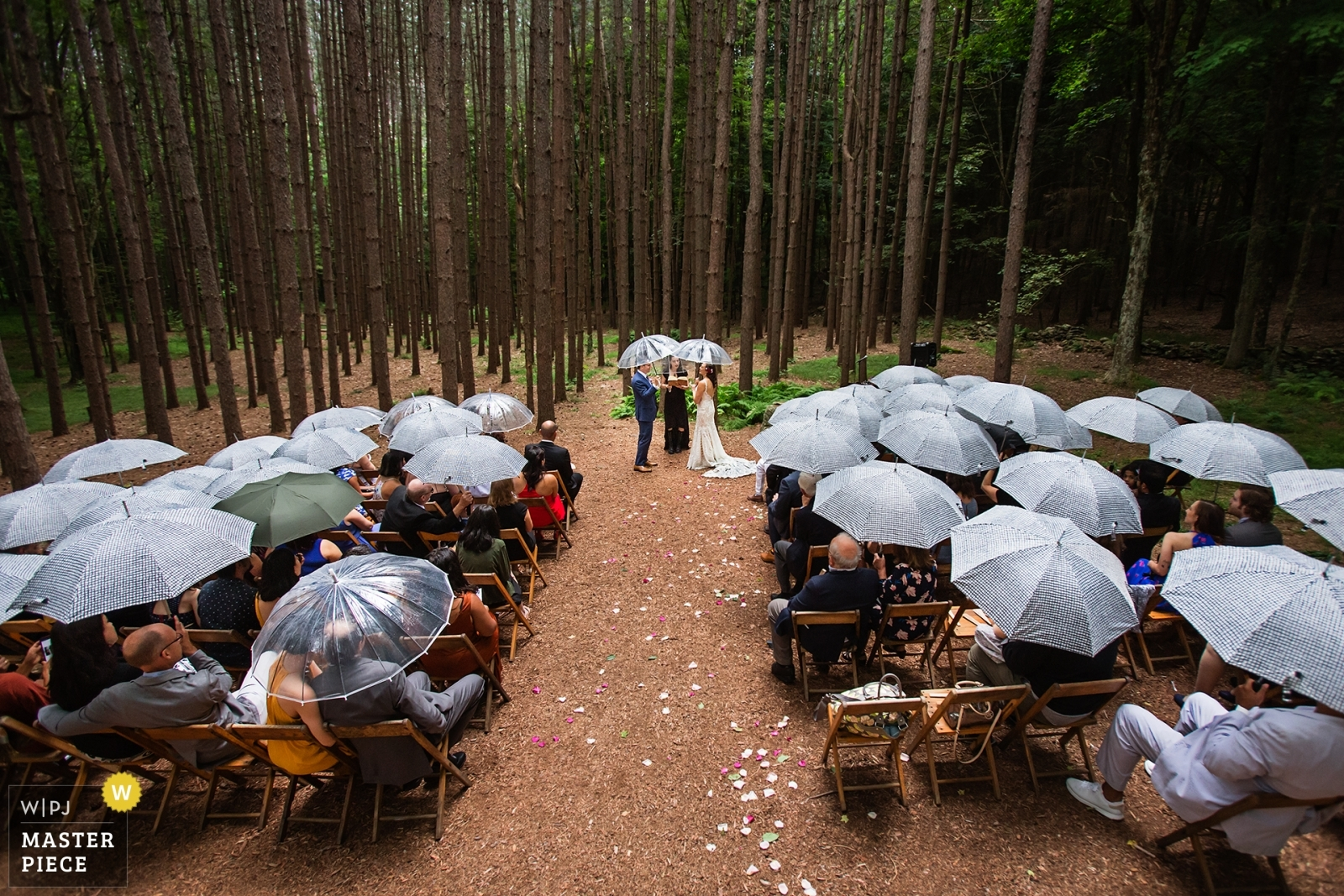 Rain during the outdoor ceremony - New Jersey, United States Wedding Photography -  | Roxbury Barn, Roxbury NY