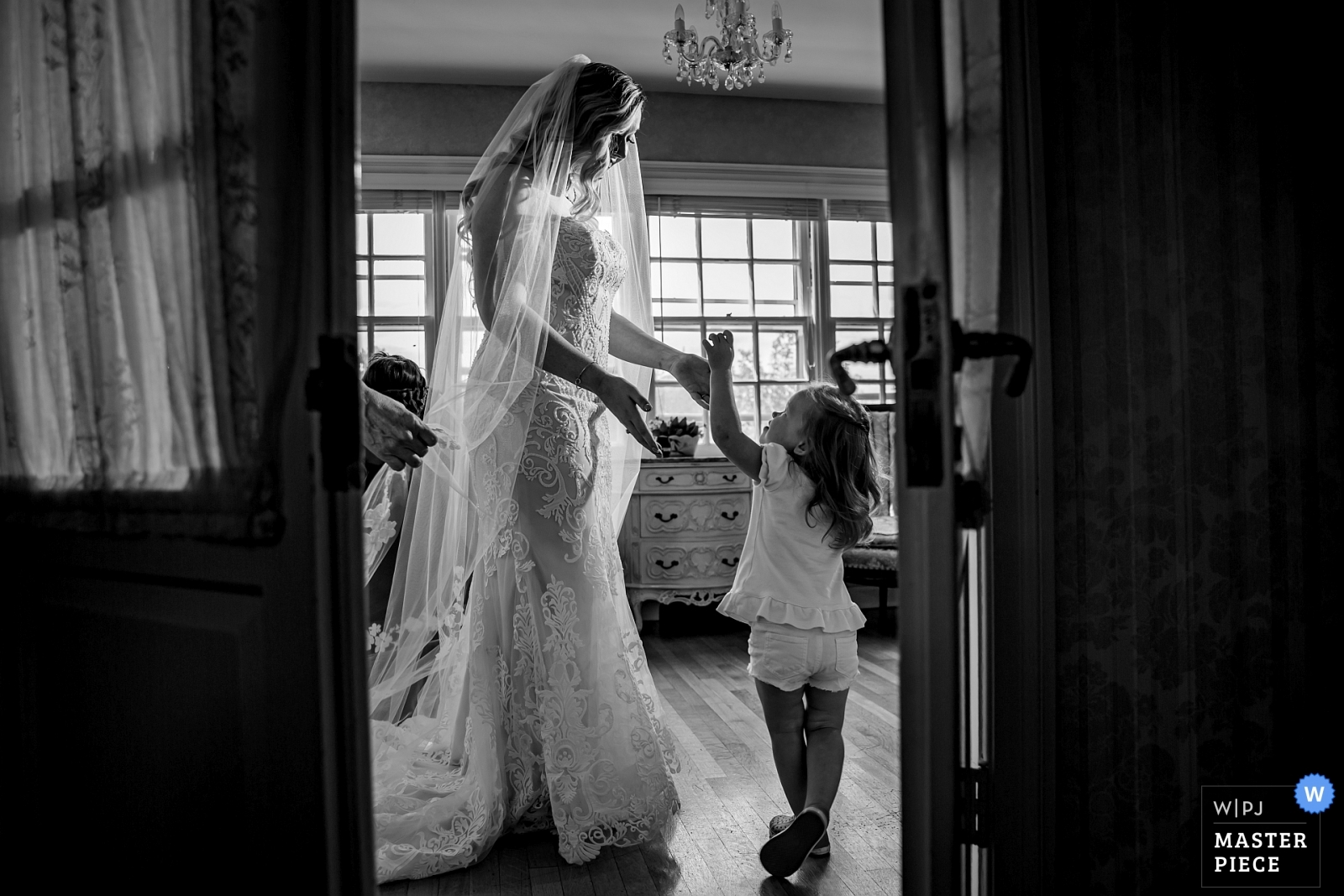 flower girl and bride getting ready - Chicago, Illinois Wedding Photography -  | Danada House, Wheaton, IL