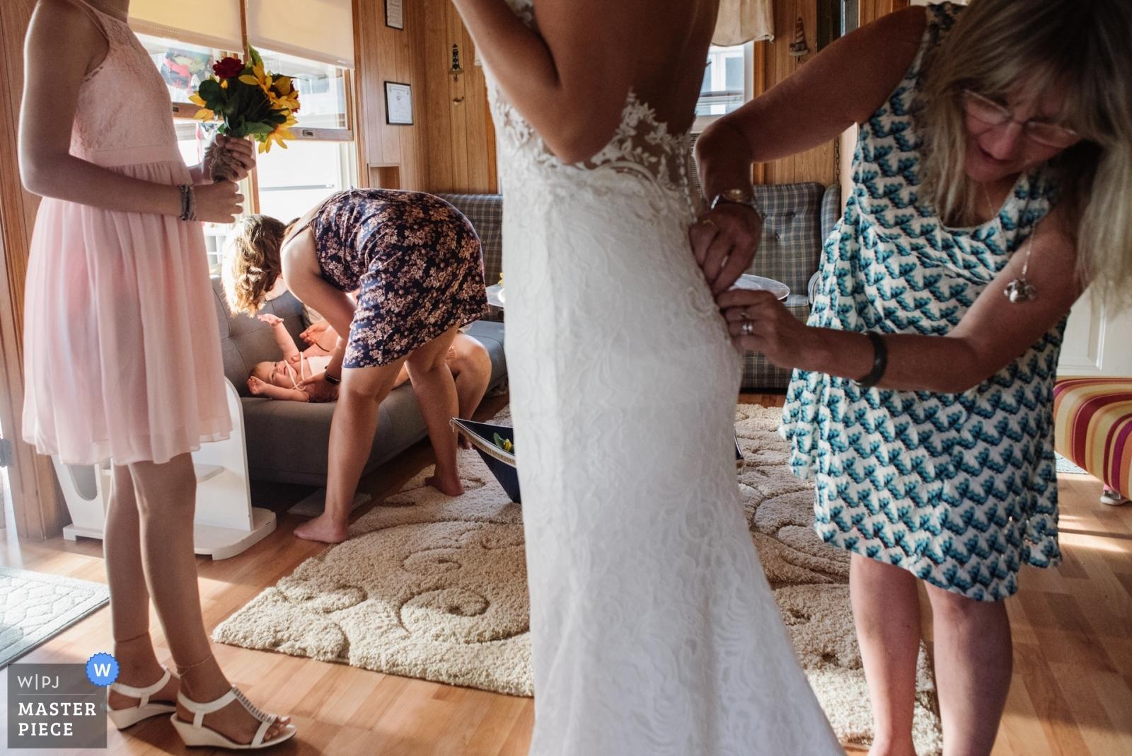 Getting Ready With Mom - Philadelphia, Pennsylvania Wedding Photography -  | Sea Breeze New Jersey