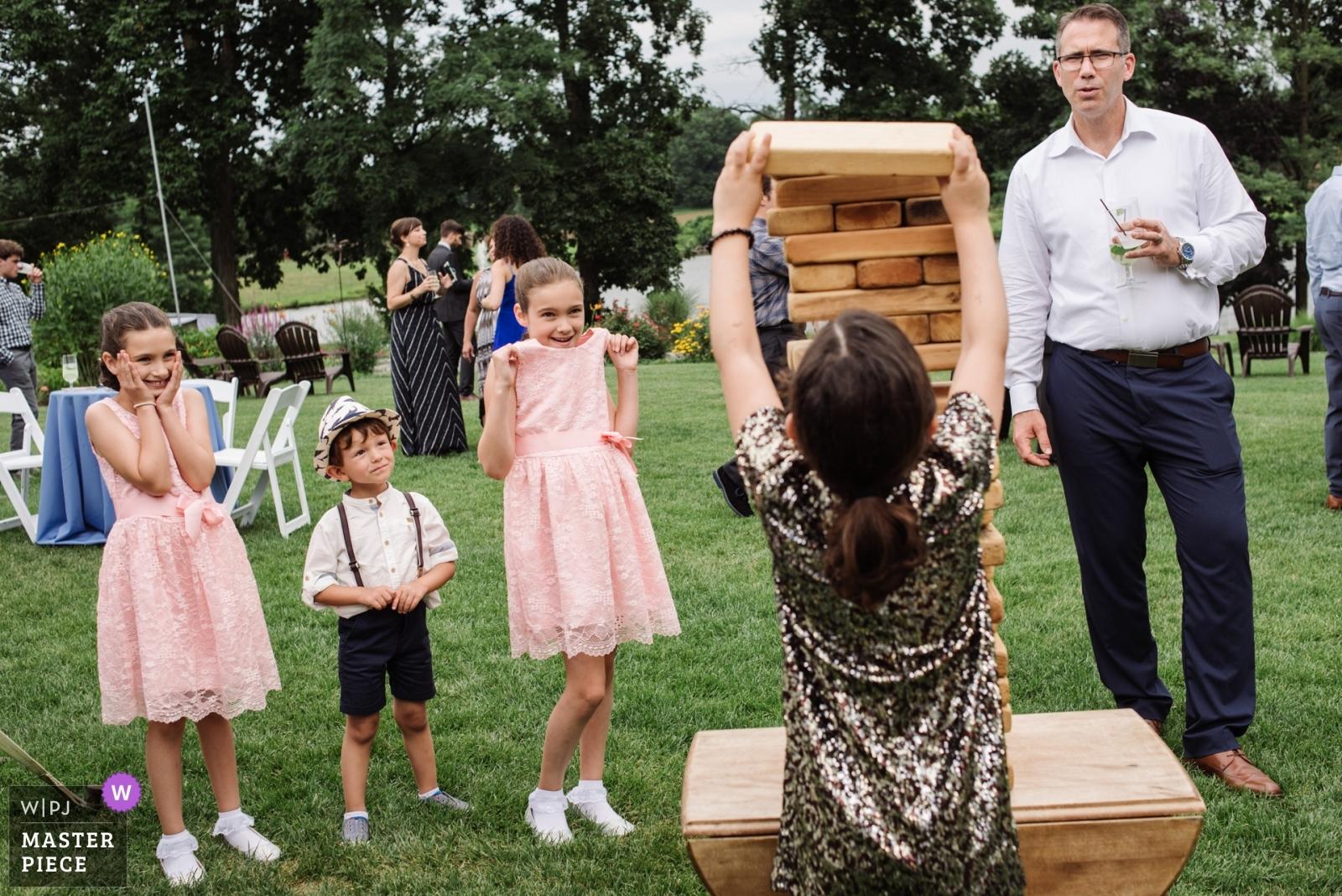 Giant Jenga - Philadelphia, Pennsylvania Wedding Photography -  | chesterfield New Jersey