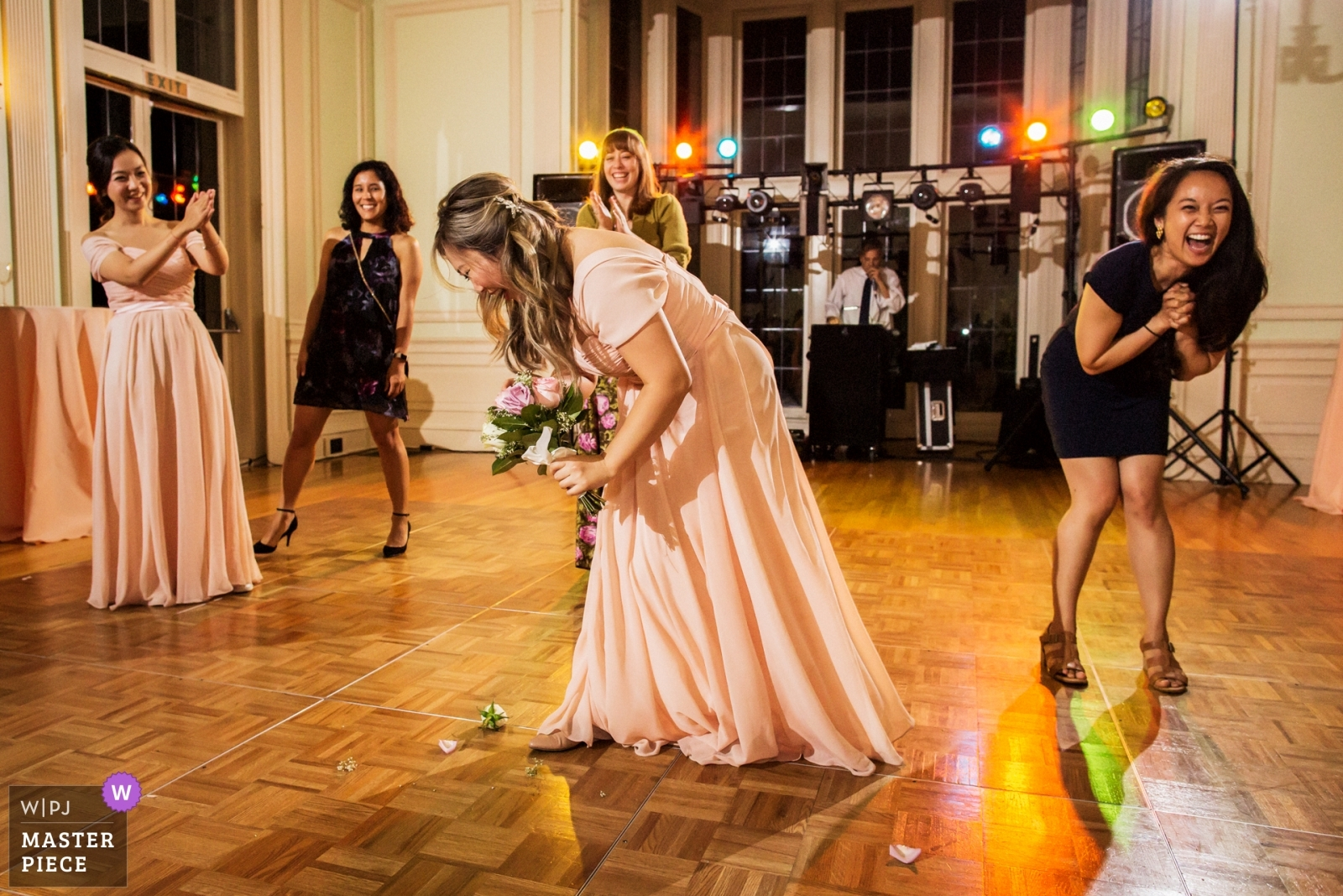 Bouquet toss - San Francisco, California - Northern Wedding Photography -  | Reception Venue