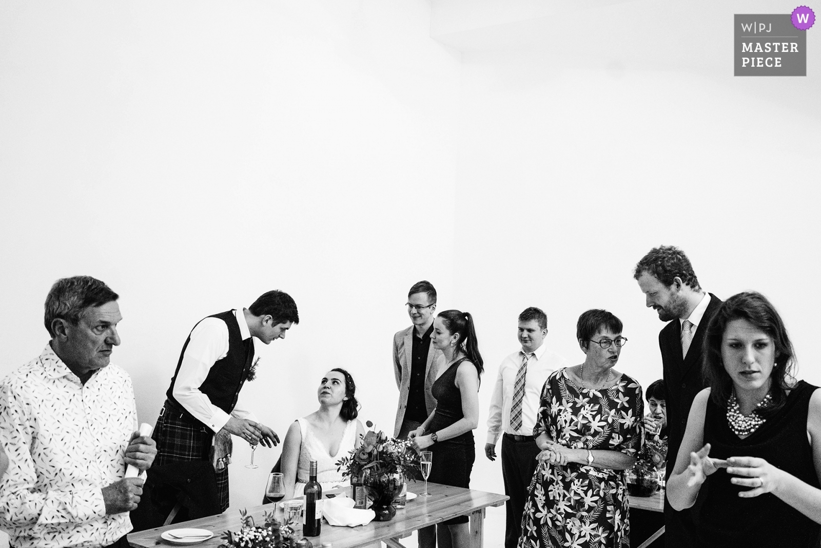 bride and groom with guests after the wedding breakfast - Greater Manchester, England Wedding Photography -  | Manchester