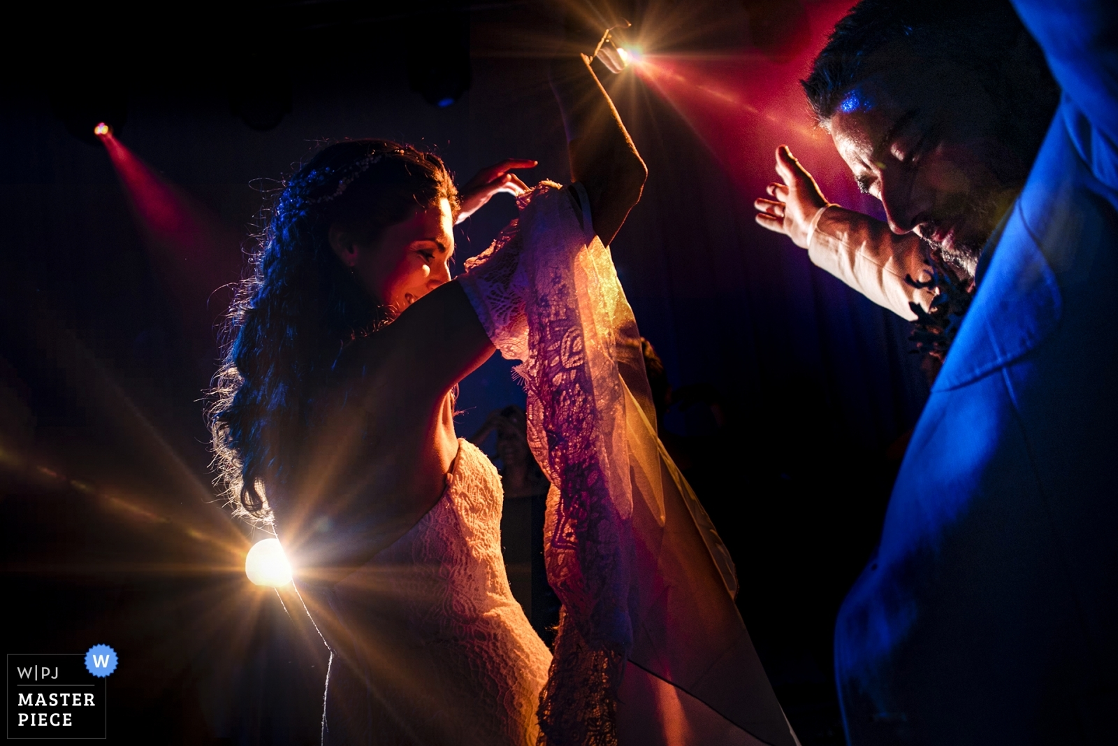 couple dancing on spot lights - Istanbul, Turkey Wedding Photography -  | istanbul Marriot Asia Hotel