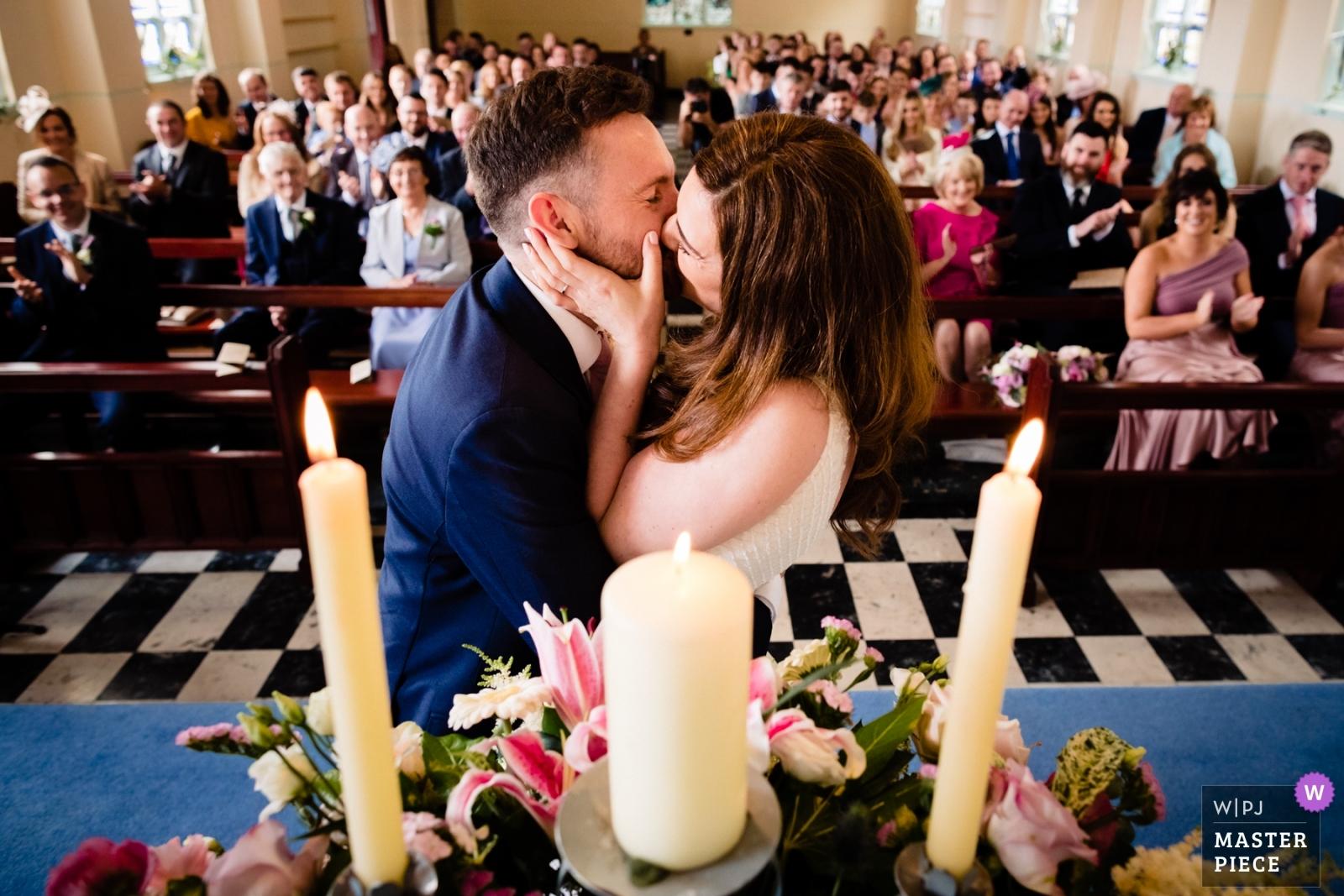 First kiss - Dublin, Leinster Wedding Photography -  | Waterville, Kerry, Ireland