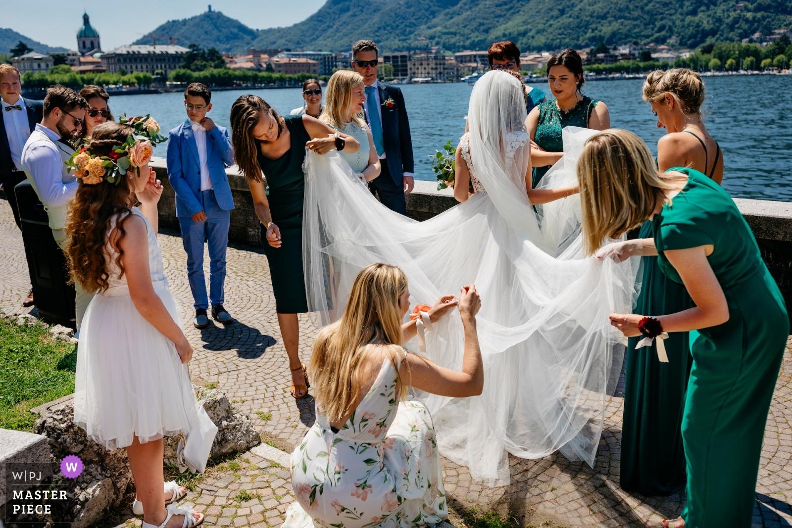 bride with friends  - Utrecht, Netherlands Wedding Photography -  | wedding venue