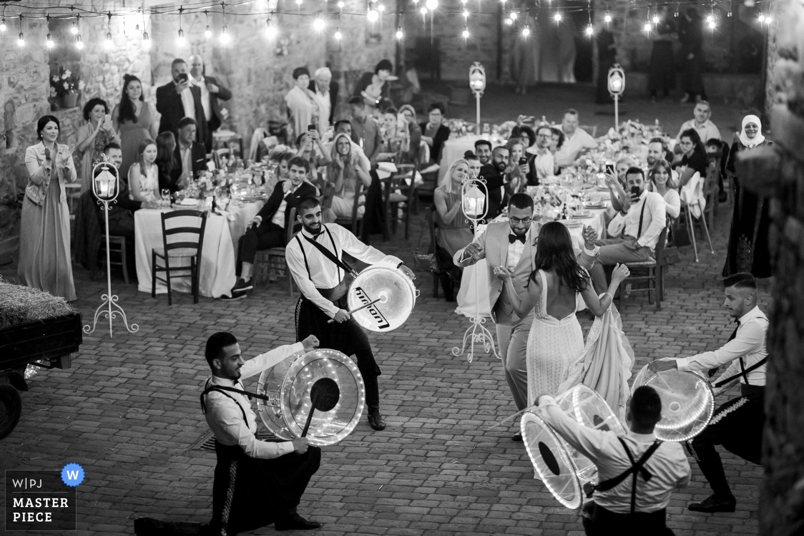 Bride and Groom dancing with Arabian Musicians playing - Portofino, Genoa Wedding Photography -  | Podere Conti Tuscany