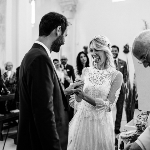 the bride won, finally he is her husband - Taranto, Apulia Wedding Photography -  | Ceremony in the Church